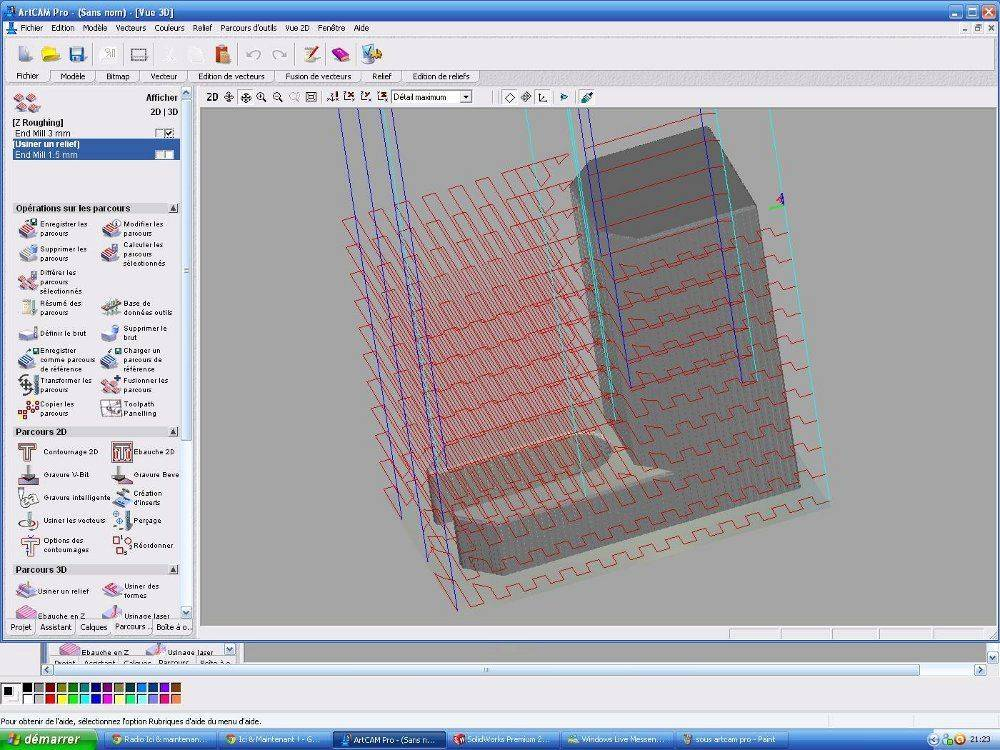 artcam pro simulation d'ébauche outil 3 mm.JPG