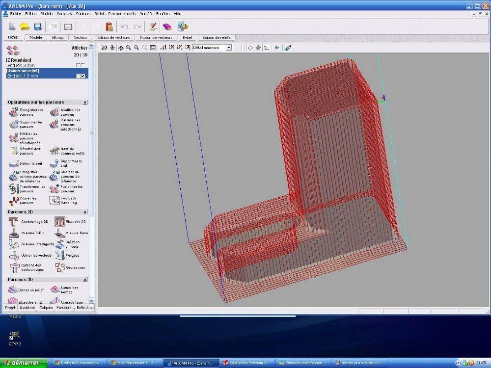 artcam pro simulation  outil finition 1,5 mm.JPG