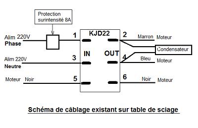 Câblage existant table de sciage Sylvianebis.png