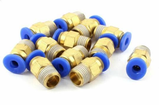 Embouts  12 pcs 4mm tube 18 BSP Filetage pousser dans raccords rapide PC4-01.jpg