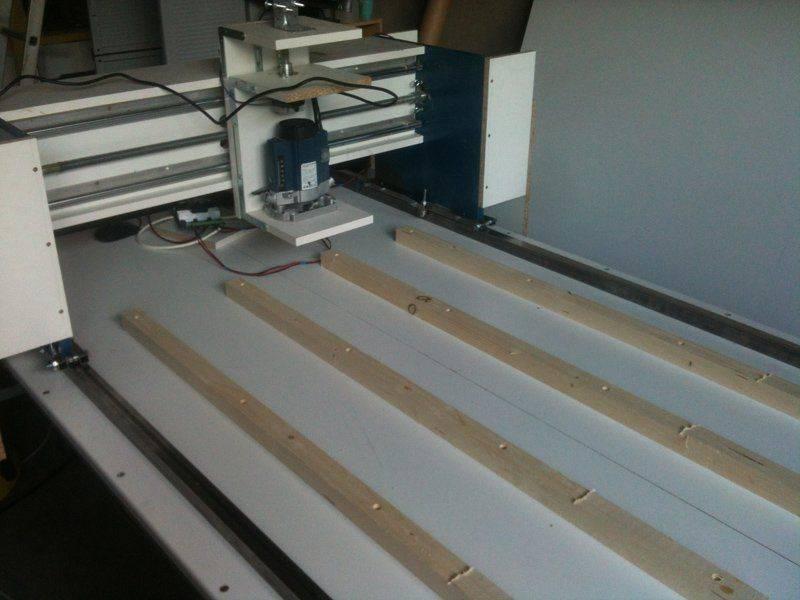 Fraiseuse CNC 9001500 (BOIS)  Question position VAB  Usinages