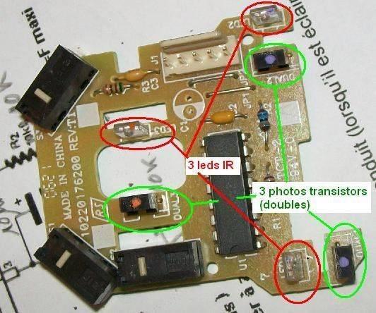 récup led IR + phototransistors.JPG