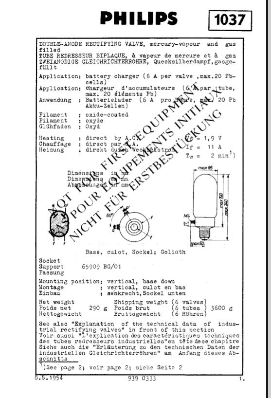 Redresseur à vapeur de mercure Philips 1037.png