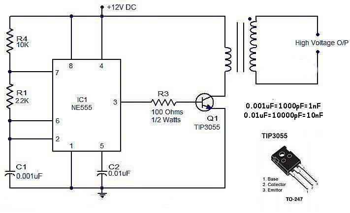 schéma avec NE555 et TIP3055 pour  primaire transfo.jpg