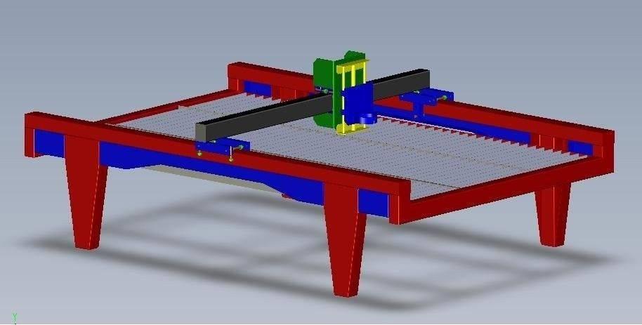 Table cnc pour decoupeur plasma.JPG